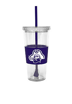 East Carolina Pirates Tumbler with Lid and Straw