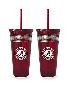 Boelter 22-oz. NCAA Alabama Crimson Tide 2-pack Bling Tumbler with Straw