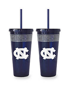 Boelter 22-oz. NCAA UNC Tar Heels 2-pack Bling Tumbler with Straw
