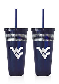 Boelter 22-oz. NCAA West Virginia Mountaineers 2-pack Bling Tumbler with Straw