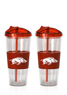 Boelter 22-oz. NCAA Arkansas Razorbacks 2-pack No Spill Straw Tumbler