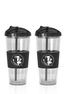Boelter 22-oz. NCAA Florida State Seminoles 2-pack No Spill Straw Tumbler