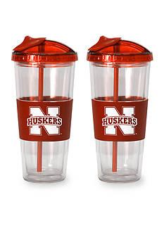 Boelter 22-oz. NCAA Nebraska Cornhuskers 2-pack No Spill Straw Tumbler