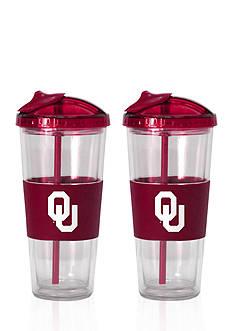 Boelter 22-oz. NCAA Oklahoma Sooners 2-pack No Spill Straw Tumbler