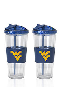 Boelter 22-oz. NCAA West Virginia Mountaineers 2-pack No Spill Straw Tumbler
