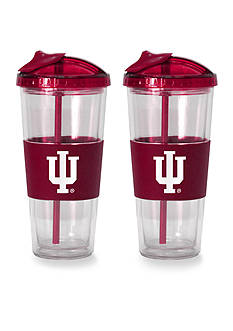 Boelter 22-oz. NCAA Indiana Hoosiers 2-pack No Spill Straw Tumbler