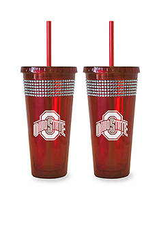 Boelter 22-oz. NCAA Ohio State Buckeyes 2-pack Bling Tumbler with Straw