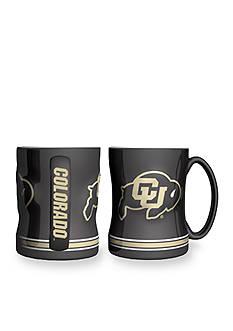 Boelter 14-oz. NCAA Colorado Buffalo 2-pack Relief Sculpted Coffee Mug Set