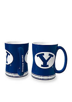 Boelter 14-oz. NCAA BYU Cougars 2-pack Relief Sculpted Coffee Mug Set