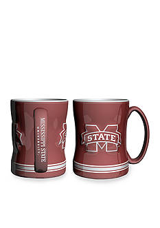 Boelter 14-oz. NCAA Mississippi State Bulldogs 2-Pack Relief Sculpted Coffee Mug Set