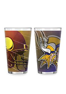Boelter 16-oz. NFL Minnesota Vikings 2-pack Shadow Sublimated Pint Glass Set