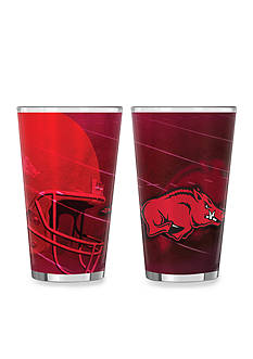 Boelter 16-oz. NCAA Arkansas Razorbacks 2-pack Shadow Sublimated Pint Glass Set