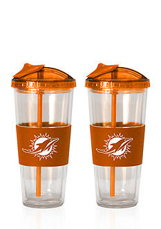 Boelter 22-oz. NFL Miami Dolphins 2-Pack No Spill Straw Tumbler