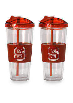 Boelter 22-oz. NCAA NC State Wolfpack 2-pack No Spill Straw Tumbler