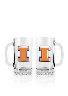 Boelter 16-oz. NCAA Illinois 2-pack Glass Tankard Set