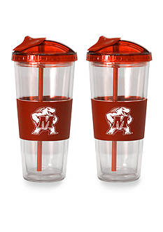 Boelter 22-oz. NCAA Maryland Terrapins 2-pack No Spill Straw Tumbler
