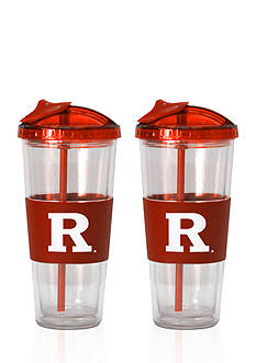 Boelter 22-oz NCAA Rutgers Scarlet Knights 2-pack No Spill Straw Tumbler
