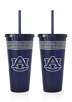 Boelter 22-oz. NCAA Auburn Tigers 2-Pack Bling Tumbler with Straw