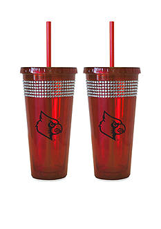 Boelter 22-oz. NCAA Louisville Cardinals 2-pack Bling Tumbler with Straw