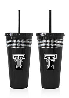 Boelter 22-oz. NCAA Texas Tech Raiders 2-pack Bling Tumbler with Straw
