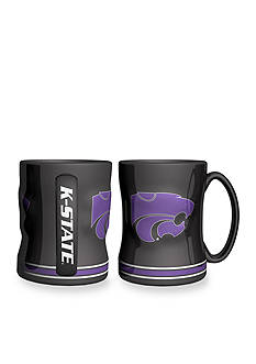 Boelter 14-oz. NCAA Kansas State Wildcats 2-pack Relief Sculpted Coffee Mug Set