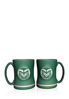 Boelter 14-oz. NCAA Colorado State Rams 2-pack Relief Sculpted Coffee Mug Set