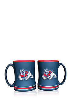 Boelter 14-oz. NCAA Fresno State Bulldogs 2-pack Relief Sculpted Coffee Mug Set
