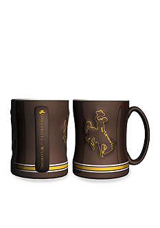 Boelter 14-oz. NCAA Wyoming Cowboys 2-pack Relief Sculpted Coffee Mug Set