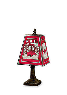 Memory Company NCAA University of Arkansas Razorbacks 14-in. Art-Glass Table Lamp