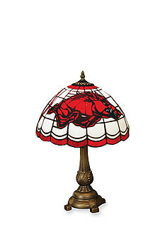 Memory Company NCAA University of Arkansas Razorbacks Tiffany Stained Glass Table Lamp