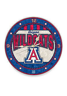 Memory Company NCAA University of Arizona Wildcats 12-in. Art-Glass Clock