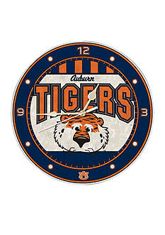 Memory Company NCAA Auburn University Tigers 12-in. Art-Glass Clock
