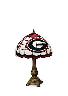 Memory Company NCAA University of Georgia Bulldogs Tiffany Stained Glass Table Lamp