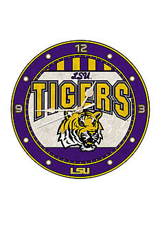 Memory Company NCAA Louisiana State University Tigers 12-in. Art-Glass Clock