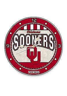 Memory Company NCAA University of Oklahoma Sooners 12-in. Art-Glass Clock