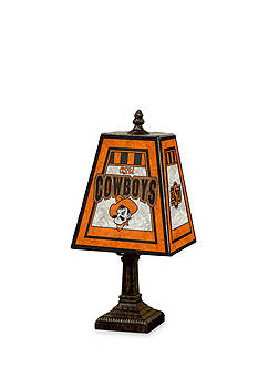 Memory Company NCAA Oklahoma State University Sooners 14-in. Art-Glass Table Lamp
