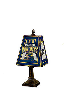 Memory Company NCAA University of Pittsburgh Panthers 14-in. Art-Glass Table Lamp