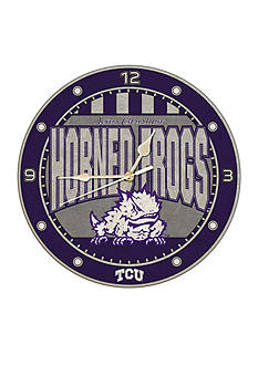 Memory Company NCAA Texas Christian University Horned Frogs 12-in. Art-Glass Clock