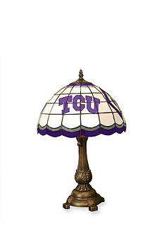 Memory Company NCAA Texas Christian University Horned Frogs Tiffany Stained Glass Table Lamp