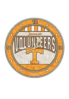 Memory Company NCAA University of Tennessee Volunteers 12-in. Art-Glass Clock
