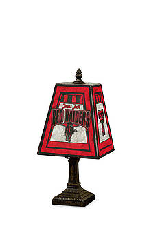 Memory Company NCAA Texas Tech University Red Raiders 14-in. Art-Glass Table Lamp