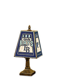 Memory Company MLB Tampa Bay Rays 14-in. Art-Glass Table Lamp