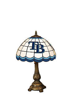 Memory Company MLB Tampa Bay Rays Tiffany Stained Glass Table Lamp