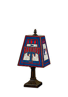 Memory Company MLB Texas Rangers 14-in. Art-Glass Table Lamp