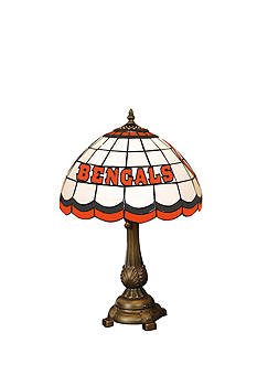 Memory Company NFL Cincinnati Bengals Tiffany Stained Glass Table Lamp