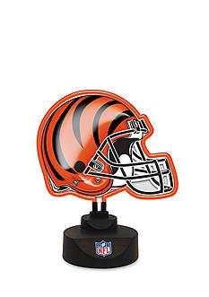 Memory Company NFL Cincinnati Bengals Neon Helmet Desk Lamp
