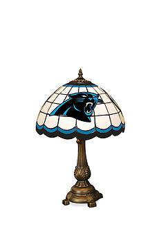 Memory Company NFL Carolina Panthers Tiffany Stained Glass Table Lamp