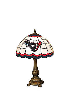 Memory Company NFL Houston Texans Tiffany Stained Glass Table Lamp