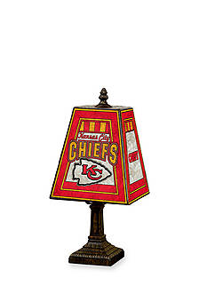 Memory Company NFL Kansas City Chiefs 14in. Art-Glass Table Lamp