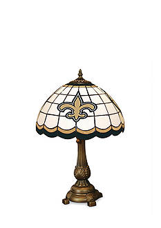 Memory Company NFL New Orleans Saints Tiffany Stained Glass Table Lamp